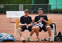 2013-08-17, Netherlands, Raalte,  TV Ramele, Tennis, NRTK 2013, National Ranking Tennis Champ,  Daan Maasland(L) and Sidney de Boer<br /> <br /> Photo: Henk Koster