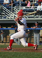 July 17, 2003:  third baseman Zach Norman of the Batavia Muckdogs during a game at Dwyer Stadium in Batavia, New York.  Photo by:  Mike Janes/Four Seam Images
