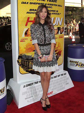 LOS ANGELES, CA - AUGUST 14: Kelsey Chow arrives at the 'Hit & Run' Los Angeles Premiere on August 14, 2012 in Los Angeles, California MPI21 / Mediapunchinc