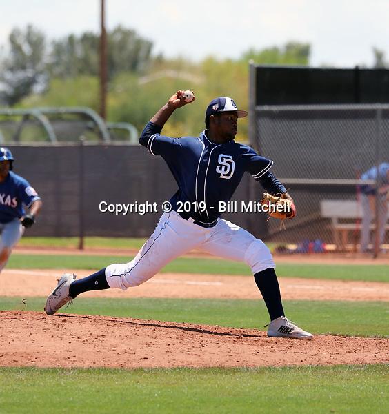 Jose Geraldo - San Diego Padres 2019 extended spring training (Bill Mitchell)