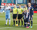 Lee Wallace and Andrew Davies with the County mascots