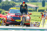 17th July 2021, St Emilian, Bordeaux, France;  THOMAS Geraint (GBR) of INEOS GRENADIERS during stage 20 of the 108th edition of the 2021 Tour de France cycling race, an individual time trial stage of 30,8 kms between Libourne and Saint-Emilion.