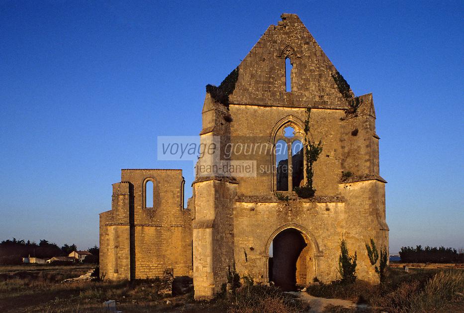 Europe/France/Poitou-Charentes/17/Charente-Maritime/Ile de Ré: Ancienne Abbaye des Châteliers - fondée au XIIème siècle et ruinée en 1623