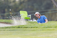 11th September 2020, Napa, California, USA;  Aaron Baddeley of Australia escapes from the bunker during the second round of the Safeway Open PGA tournament on September 11, 2020 at Silverado Country Club in Napa, CA.