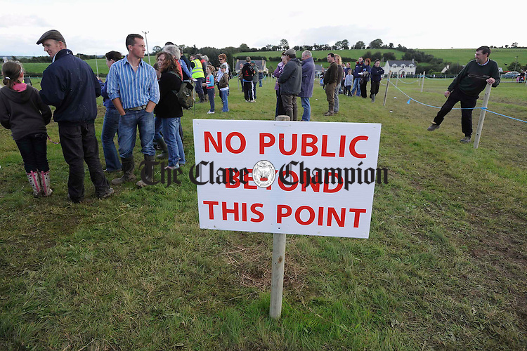 A sign at Scariff Show. Photograph by John Kelly.