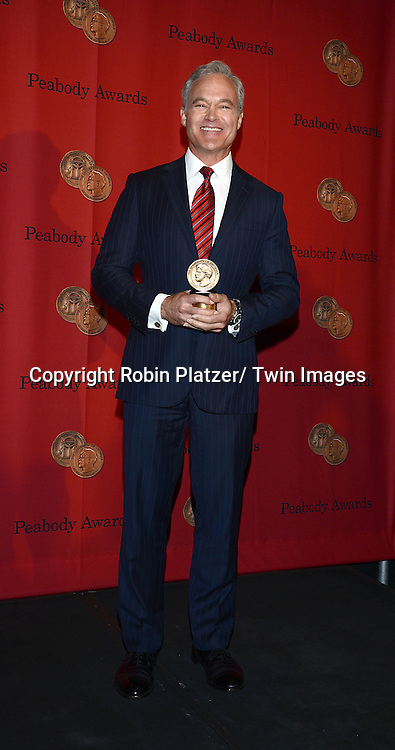 winner Scott Pelley attends the 72nd Annual Peabody Awards on May 20, 2013 at the Waldorf=Astoria Hotel in New York City.