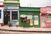 Olinda, Pernambuco State, Brazil. Bar and shop Rua Quinze de Novembro.
