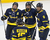 Hampus Gustafsson (Merrimack - 20), Sami Tavernier (Merrimack - 25), Johnathan Kovacevic (Merrimack - 8) - The visiting Merrimack College Warriors defeated the Boston College Eagles 6 - 3 (EN) on Friday, February 10, 2017, at Kelley Rink in Conte Forum in Chestnut Hill, Massachusetts.