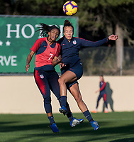 Faro, Portugal - January 7, 2019:  The USWNT trains during January Camp in Portugal.