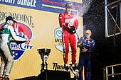 #8: Marcus Ericsson, Chip Ganassi Racing Honda   winner #9: Scott Dixon, Chip Ganassi Racing Honda   2nd place and   #29: James Hinchcliffe, Andretti Steinbrenner Autosport Honda   3rd place  podium   champagne
