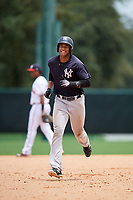 GCL Yankees West right fielder Anthony Garcia (37) rounds the bases after Stanley Rosario (not pictured) hit a home run in the bottom of the third inning during the second game of a doubleheader against the GCL Braves on July 30, 2018 at Champion Stadium in Kissimmee, Florida.  GCL Braves defeated GCL Yankees West 5-4.  (Mike Janes/Four Seam Images)