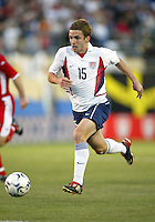 Bobby Convey of the U.S. National team dribbles the ball against Wales at Spartan Stadium, in San Jose, Calif., Monday, May 26, 2003. The USA won 2-0.