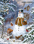 Liz,CHRISTMAS SANTA, SNOWMAN, WEIHNACHTSMÄNNER, SCHNEEMÄNNER, PAPÁ NOEL, MUÑECOS DE NIEVE, paintings+++++,USHCLD0303B,#x#