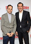 """Jonny Lee Miller and Bertie Carvel attends the Broadway Opening Night After Party for """"Ink"""" at the Copacabana on April 24, 2019  in New York City."""