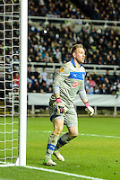 14.03.2013 Newcastle, England. Newcastle's Rob Elliot guards his area in action during the Europa League game between Newcastle and Anzhi Makhachkala from St James Park.