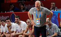 Aleksandar Djordjevic European championship basketball match for third place between France and Serbia on September 20, 2015 in Lille, France  (credit image & photo: Pedja Milosavljevic / STARSPORT)