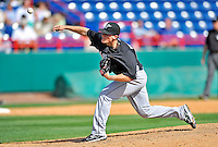 2 March 2011: Florida Marlins pitcher Tom Koehler in action during a Spring Training game against the Washington Nationals at Space Coast Stadium in Viera, Florida. The Nationals defeated the Marlins 8-4 in Grapefruit League action. Mandatory Credit: Ed Wolfstein Photo