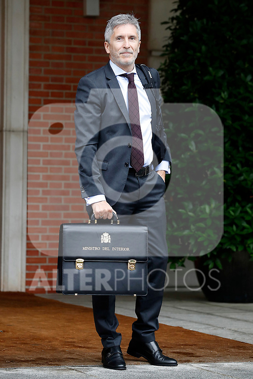 Fernando Grande-Marlaska, Minister of Interior arrives at the first Council of Ministers of the new Government of Spain, chaired by Pedro Sanchez. June 8,2018. (ALTERPHOTOS/Acero)