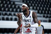 22nd February 2021, Podgorica, Montenegro; Eurobasket International Basketball qualification for the 2022 European Championships, England versus France;  Mathias Lessort of France