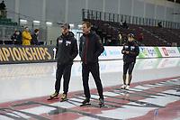 SPEEDSKATING: 12-02-2020, Utah Olympic Oval, ISU World Single Distances Speed Skating Championship, Johan de Wit (coach JPN), Erik Bouwman (coach GER), ©Martin de Jong