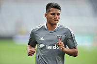 WASHINGTON, DC - JULY 7: J.Bolivar #20 of D.C. United warming up during a game between Liga Deportiva Alajuense  and D.C. United at Audi Field on July 7, 2021 in Washington, DC.