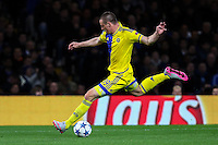 Dejan Radonjic of Maccabi Tel-Aviv during the UEFA Champions League match between Chelsea and Maccabi Tel Aviv at Stamford Bridge, London, England on 16 September 2015. Photo by David Horn.
