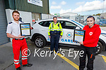 Thomas White and Anna Marie O'Donnell, members of the Tralee Red Cross received their Lee Strand Kerry Garda Youth Achievement Merit Certificates on Monday from Garda Cathy Murphy.  L to r: Thomas White, Garda Cathy Murphy and Anna Marie O'Donnell
