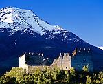 Italy, South Tyrol - Alto Adige, Vinschgau (Val Venales), Martell Valley (Val Martello), village Morter: castle ruin Obermontani | Italien, Suedtirol, Vinschgau, Martelltal, Dorf Morter, Burg Obermontani