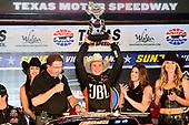 NASCAR Camping World Truck Series<br /> winstaronlinegaming.com 400<br /> Texas Motor Speedway, Ft. Worth, TX USA<br /> Friday 9 June 2017<br /> Christopher Bell, JBL Toyota Tundra, celebrates in Victory Lane.<br /> World Copyright: John K Harrelson<br /> LAT Images<br /> ref: Digital Image 17TEX2jh_02521
