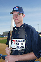 February 10 2008: Brandon Van Dam participates in a MLB pre draft workout for high school players at the Urban Youth Academy in Compton,CA.  Photo by Larry Goren/Four Seam Images