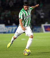 BOGOTA -COLOMBIA-1 -NOVIEMBRE-2014. Sebastian Perez  de Atletico Naciona durante partido contra Fortaleza FC  juego  de la  17  fecha  de La Liga Postobón 2014-2. Estadio Nemwsio Camacho El Campin . /  Sebastian Perez  of Atletico Nacional in actions against Fortaleza  FC  during match of the 17th date of Postobon  League 2014-2. Nemesio Camacho El Campin  Stadium. Photo: VizzorImage / Felipe Caicedo / Staff
