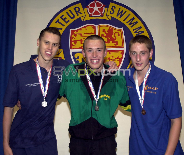 Pix : Matthew Lewis/SWpix.com. Swimming. National Age Groups and Youth Championships, Ponds Forge, Sheffield. 5 th - 12th August 2002...COPYRIGHT PICTURE>>SIMON WILKINSON>>01943 436649>>..Michael Stephenson.