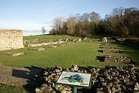 Lesnes Abbey ruins in Abbeywood, southeast London, UK