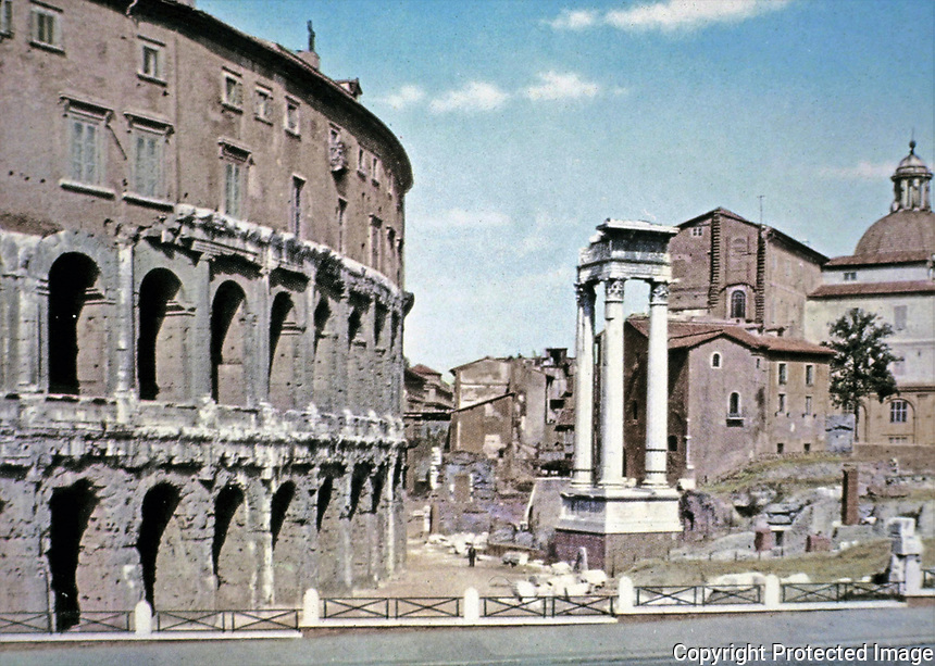 Exterior view of the Colosseum, Rome, Italy