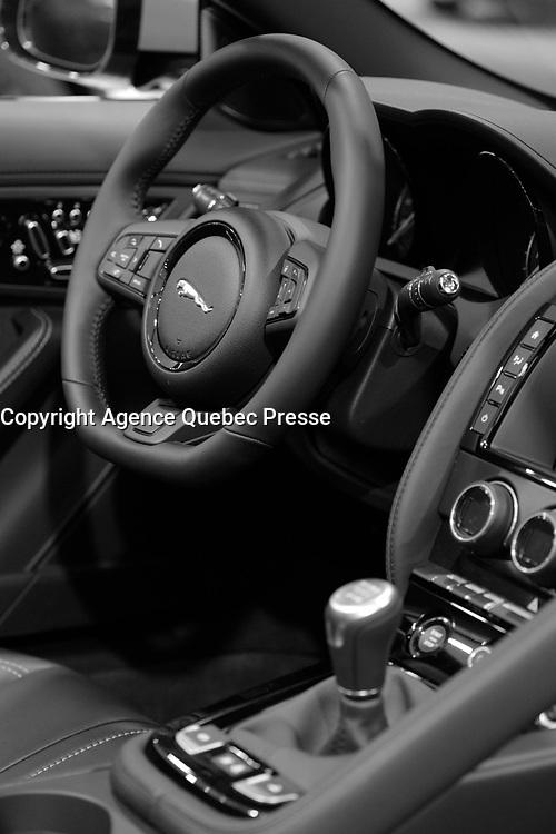 JAGUAR <br /> 2016 model at Montreal car show. January 15, 2016<br /> <br /> Photo : Pierre Roussel - Agence Quebec Presse<br /> <br /> <br /> <br /> <br /> <br /> <br /> <br /> <br /> <br /> <br /> <br /> .