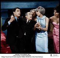 Prod DB © UFA-Comacico / DR<br /> POUIC-POUIC (POUIC POUIC) de Jean Girault 1963 FRA<br /> avec Philippe Nicaud, Louis De Fune?s, Jacqueline Maillan, Mireille Darc et Rosa-Maria Rodrigues<br /> malaise, soutenir