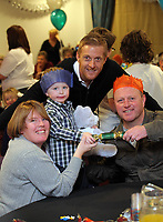 Pictured: Garry Monk (TOP) with a family of supporters. Thursday 15 December 2011<br />