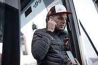 3rd placed Jurgen Roelandts (BEL/Lotto-Soudal) post-race interviews<br /> <br /> 107th Milano-Sanremo 2016