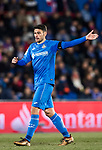 Jorge Molina Vidal of Getafe CF gestures during the La Liga 2017-18 match between Getafe CF and Athletic Club at Coliseum Alfonso Perez on 19 January 2018 in Madrid, Spain. Photo by Diego Gonzalez / Power Sport Images