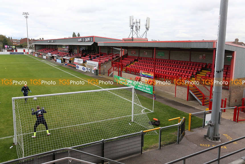 General view of the ground during Dagenham & Redbridge vs Yeovil Town, Vanarama National League Football at the Chigwell Construction Stadium on 17th October 2020