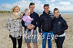 Enjoying a stroll in Banna on Sunday, l to r: Lisa Murphy, Niall Crowley, Cali Murphy, Mark O'Connor and Wendy Murphy.