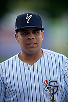 Staten Island Yankees Jerry Seitz (27) before a NY-Penn League game against the Aberdeen Ironbirds on August 22, 2019 at Richmond County Bank Ballpark in Staten Island, New York.  Aberdeen defeated Staten Island 4-1 in a rain shortened game.  (Mike Janes/Four Seam Images)