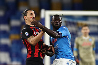 Zlatan Ibrahimovic of AC Milan and Kalidou Koulibaly of SSC Napoli<br /> during the Serie A football match between SSC Napoli and AC Milan at stadio San Paolo in Napoli (Italy), November 22, 2020. <br /> Photo Cesare Purini / Insidefoto