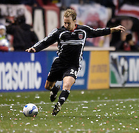 D.C. United defender Bryan Namoff (26). The Chicago Fire defeated D. C. United 1-0 during the first leg of the MLS Eastern Conference Semifinal Series at Toyota Park in Bridgeview, IL, on October 25, 2007.