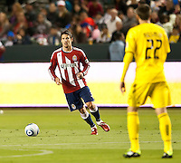 CARSON, CA – APRIL 9, 2011: Chivas USA defender Heath Pearce (3) during the match between Chivas USA and Columbus Crew at the Home Depot Center, April 9, 2011 in Carson, California. Final score Chivas USA 0, Columbus Crew 0.