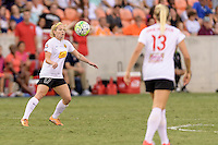 Houston, TX - Sunday Oct. 09, 2016: Kristen Hamilton during the National Women's Soccer League (NWSL) Championship match between the Washington Spirit and the Western New York Flash at BBVA Compass Stadium. The Western New York Flash win 3-2 on penalty kicks after playing to a 2-2 tie.