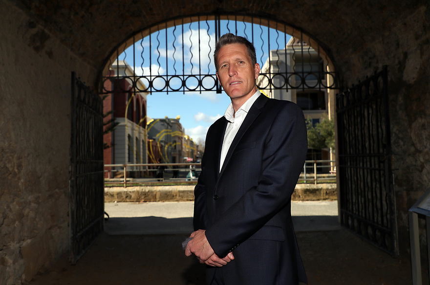 Josh Wilson, ALP candidate for the seat of Fremantle after his win in the by-election.   photo by Trevor Collens