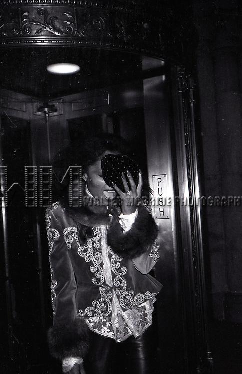 Diana Ross  leaving the Sherry Netherland Hotel on November 2, 1981  in New York City.