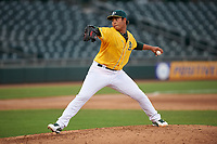 AZL Athletics Gold starting pitcher Gerald Garcia (32) during an Arizona League game against the AZL Giants Black on July 12, 2019 at Hohokam Stadium in Mesa, Arizona. The AZL Giants Black defeated the AZL Athletics Gold 9-7. (Zachary Lucy/Four Seam Images)
