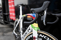 World Champion Mads Pedersen's (DEN/Trek-Segafredo) rainbow Trek Madone<br /> <br /> 79th Tour de l'Eurométropole 2019 (BEL/1.HC)<br /> One day race from La Louvière to Tournai (177km)<br /> <br /> ©kramon